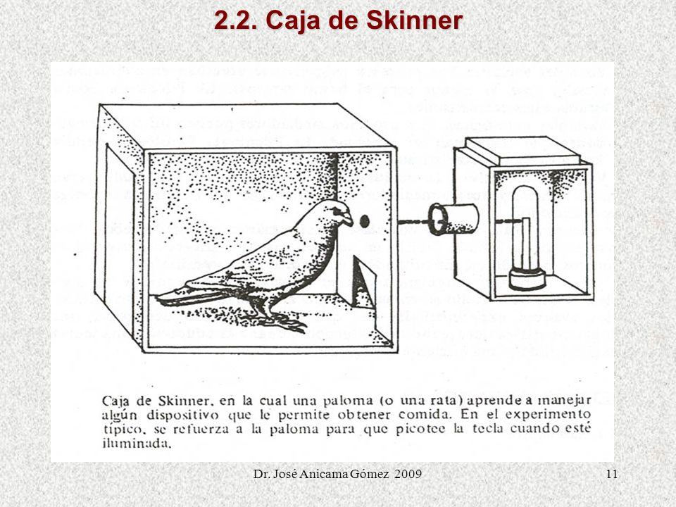 11 2.2. Caja de Skinner Dr. José Anicama Gómez 2009