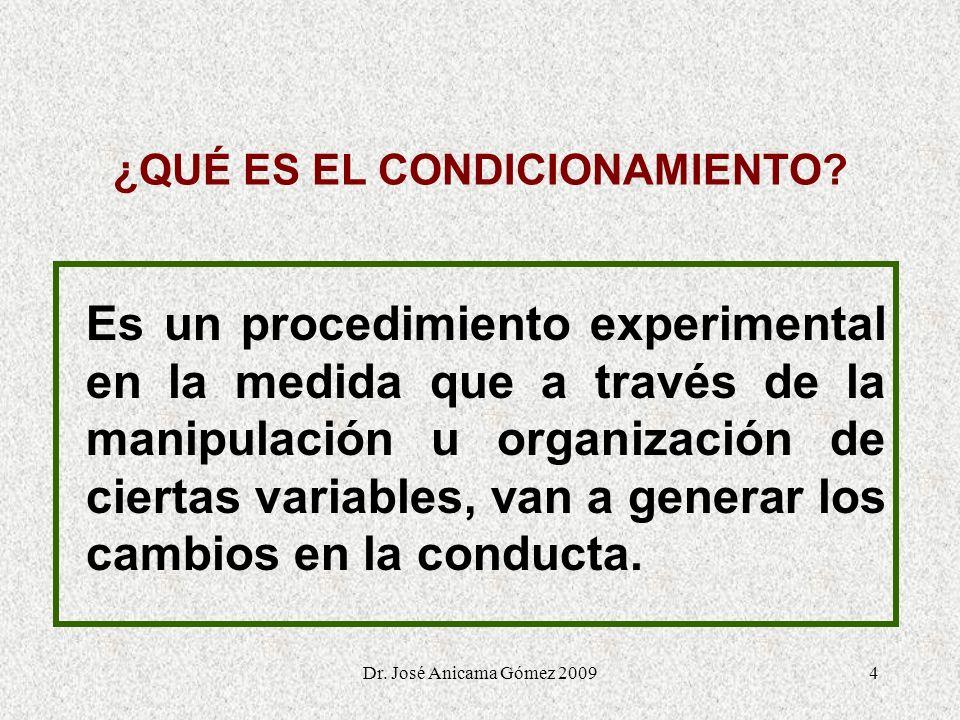4 ¿QUÉ ES EL CONDICIONAMIENTO? Es un procedimiento experimental en la medida que a través de la manipulación u organización de ciertas variables, van