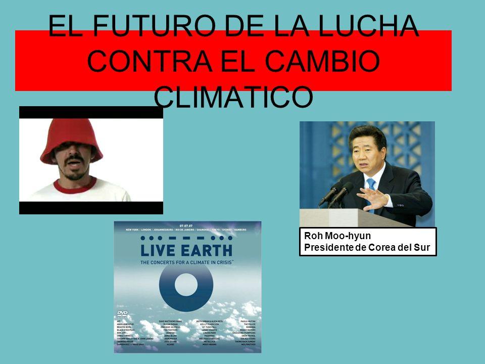 EL FUTURO DE LA LUCHA CONTRA EL CAMBIO CLIMATICO Roh Moo-hyun Presidente de Corea del Sur