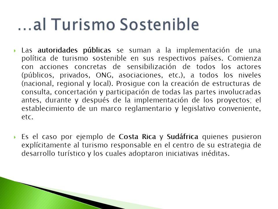 Las autoridades públicas se suman a la implementación de una política de turismo sostenible en sus respectivos países. Comienza con acciones concretas