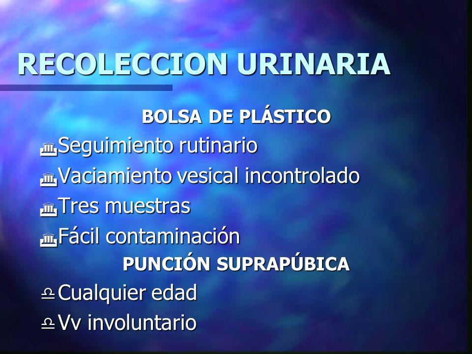 RECOLECCION URINARIA d Severidad de la enf.