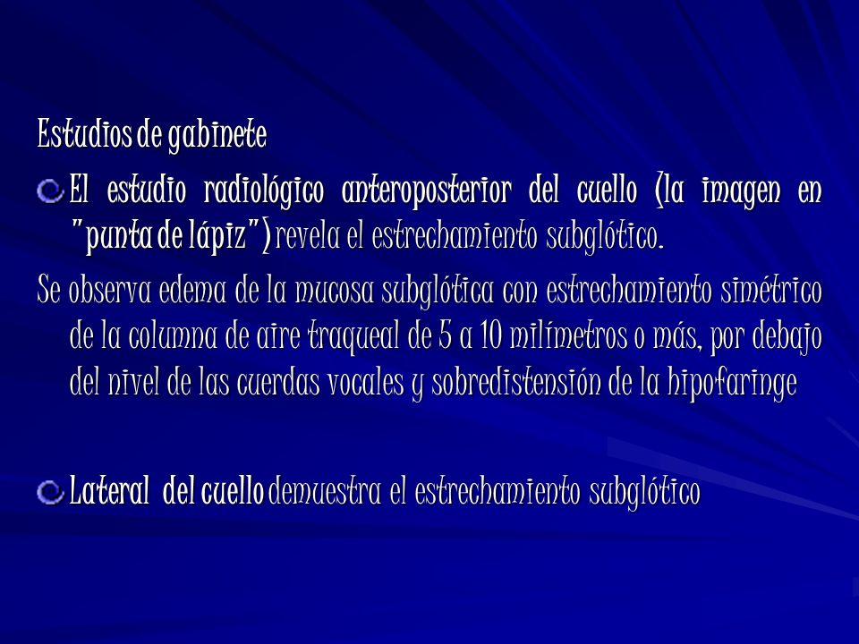 Estudios de gabinete El estudio radiológico anteroposterior del cuello (la imagen en