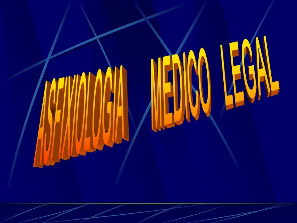 OCLUSION DE ORIFICIOS RESPIRATORIOS ETIOLOGIA SIGNOS -ACCIDENTAL - HOMICIDA.