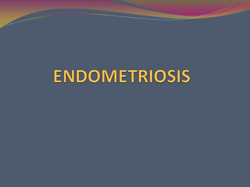 ovario 80% Fondo de saco de Douglas 50% Peritoneo uterino 35% Ligamentos úterosacros 32% Peritoneo rectosigmoideo 32% Peritoneo vesical 11% Trompas 5% Cuello uterino 3% Apéndice cecal 1%