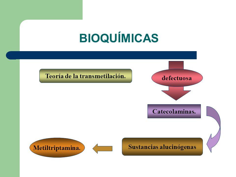 Teoría de la transmetilación.defectuosa Catecolaminas.