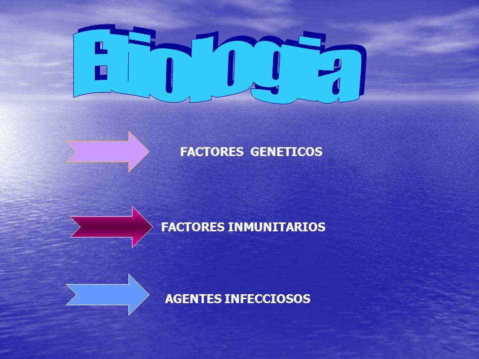 FACTORES GENETICOSFACTORES INMUNITARIOS AGENTES INFECCIOSOS