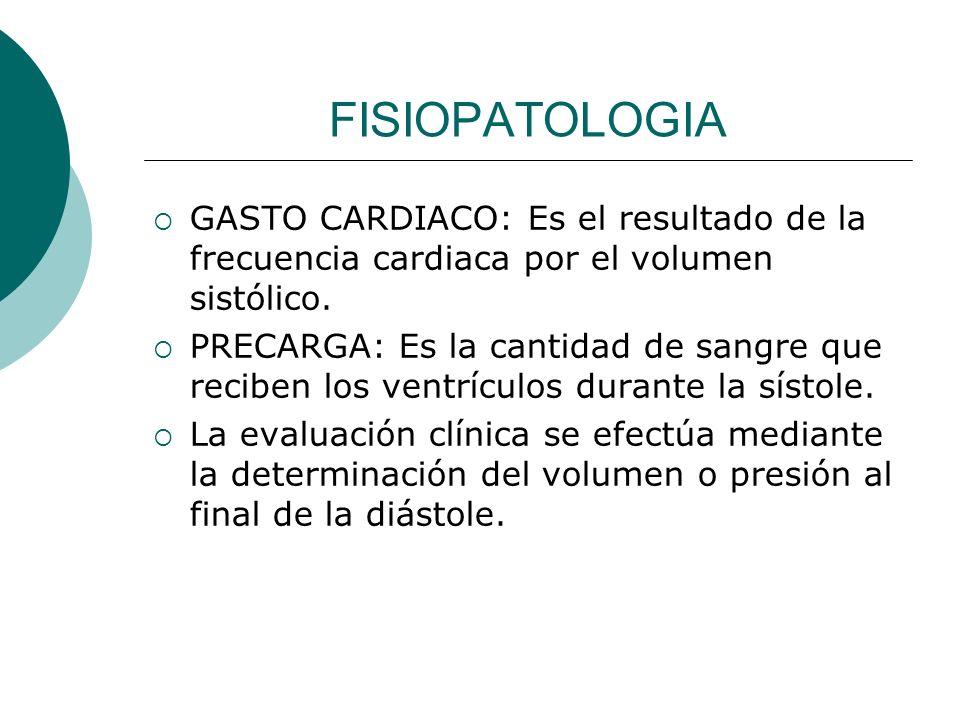 FISIOPATOLOGIA CONTRACTILIDAD: Es el estado inotropico, o la capacidad de contracción del corazón.