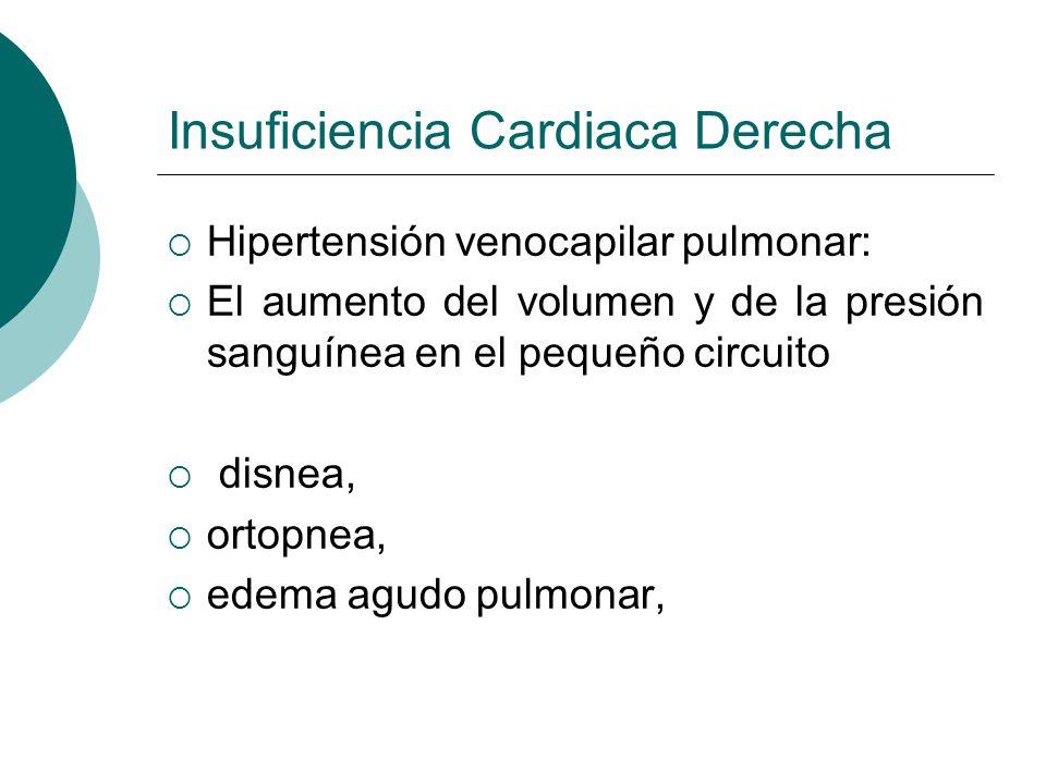 Insuficiencia Cardiaca Izquierda Bajo gasto cardiaco Esta alteración trae consigo una serie de factores compensatorios que permiten mantener el GC taquicardia (más de 160 latidos por minuto)