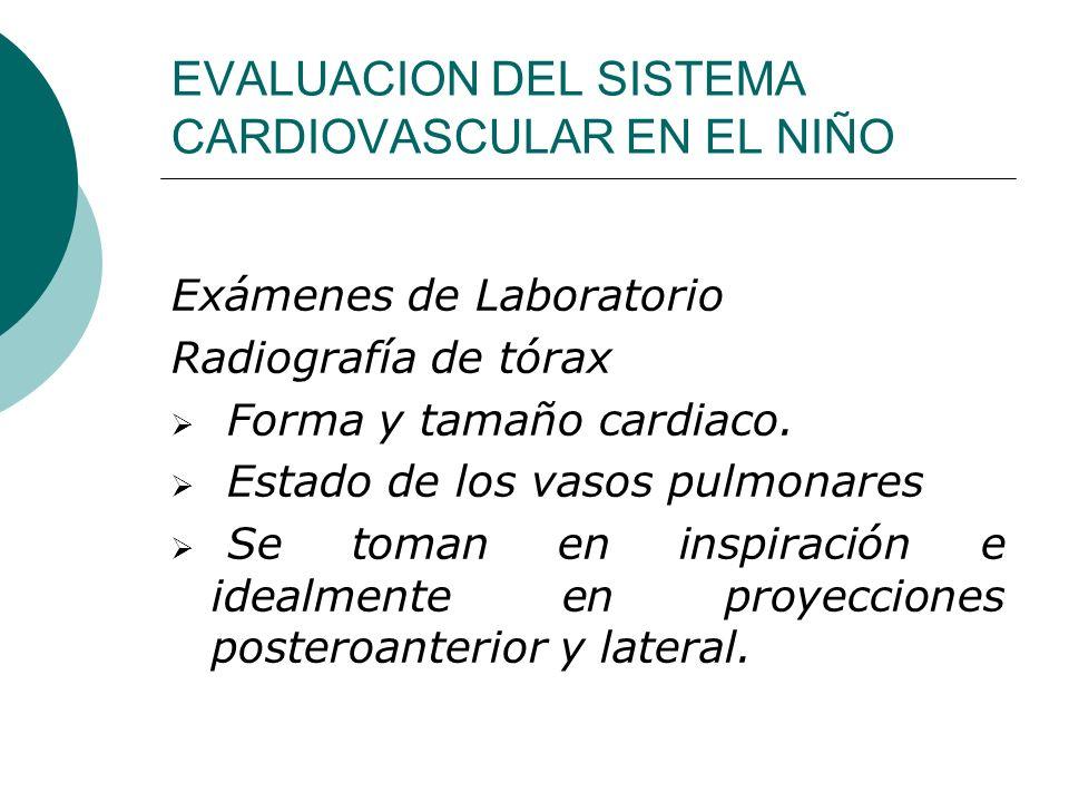 EVALUACION DEL SISTEMA CARDIOVASCULAR EN EL NIÑO Electrocardiograma Es importante considerar la importancia relativa del ventrículo derecho durante el período neonatal y de lactante.