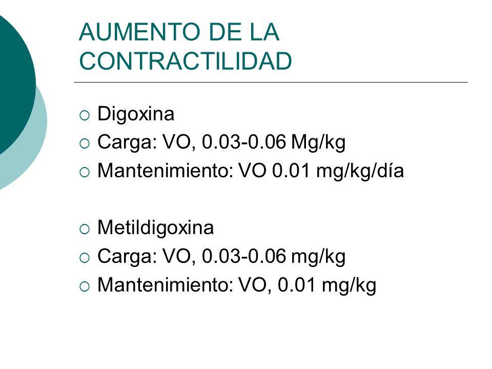 AUMENTO DE LA CONTRACTILIDAD SIMPATICOMIMETICOS Las catecolaminas y aminas simpaticomimeticas poseen un marcado efecto inotropico positivo