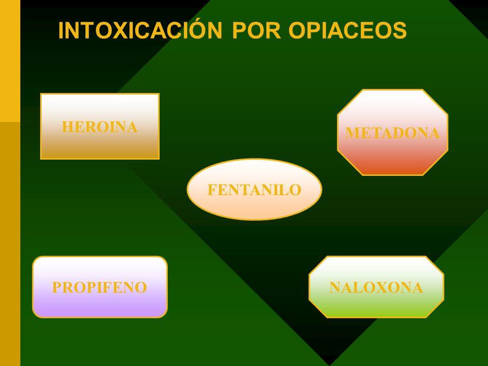 INTOXICACIÓN POR OPIACEOS FENTANILO HEROINA NALOXONAPROPIFENO METADONA