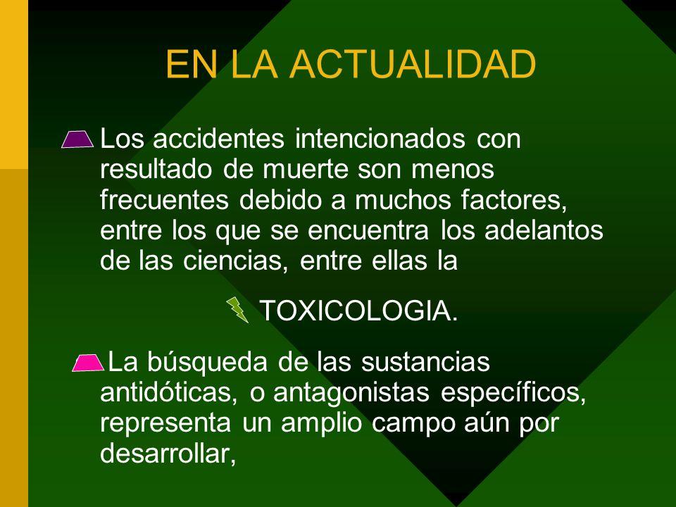 El empleo intencional de un tóxico con fines criminales que implican la premeditación y la intención de causar perjuicio o muerte.