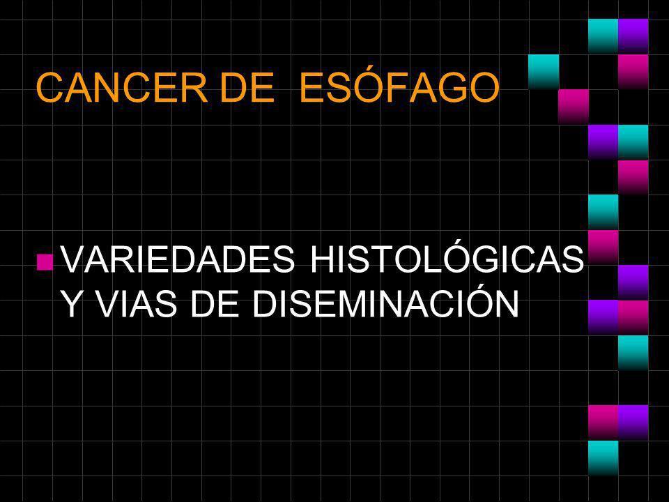 CANCER DE ESÓFAGO n VARIEDADES HISTOLÓGICAS Y VIAS DE DISEMINACIÓN