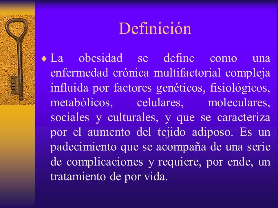 Definición La obesidad debe diferenciarse del sobrepeso.