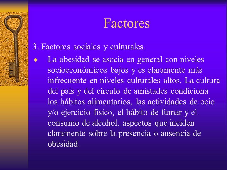 Factores 4.Tipo y cantidad de ingesta.