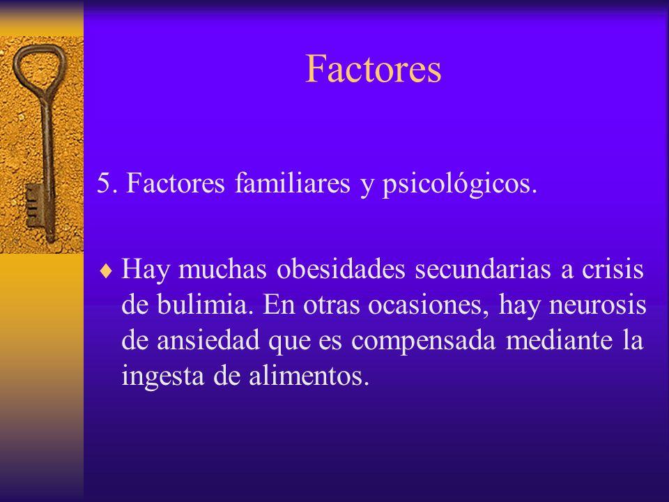 Factores La obesidad produce, por otro lado, trastornos psicológicos secundarios en el niño y el joven.