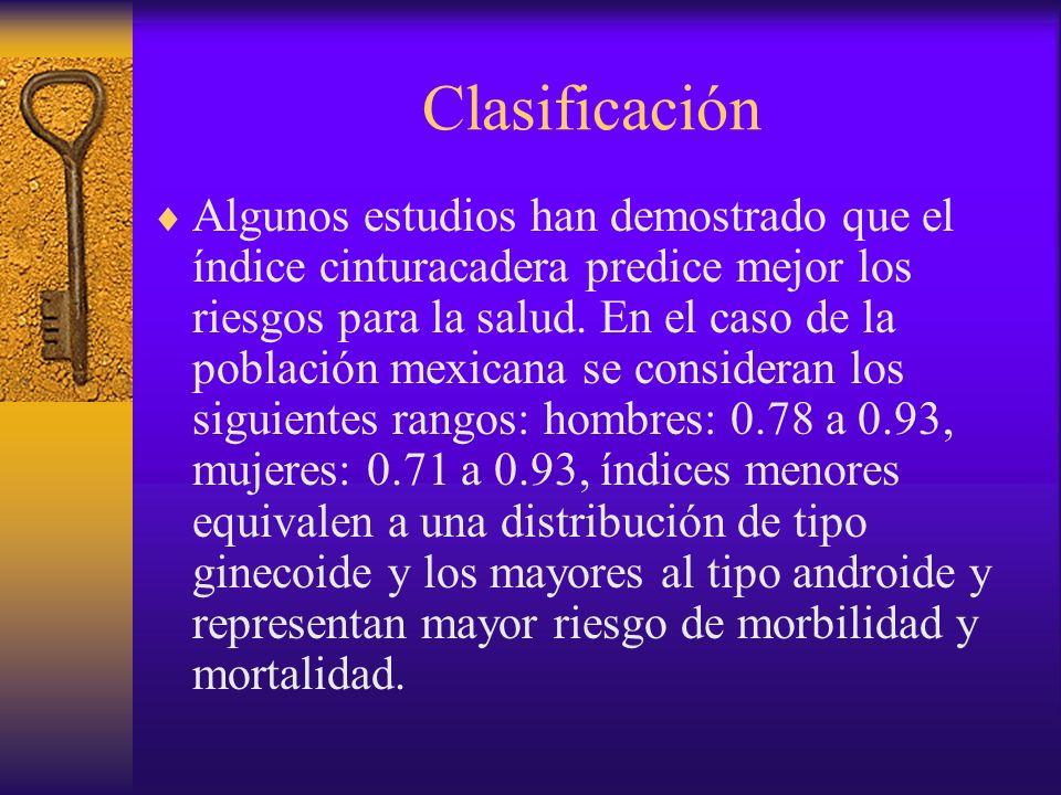 Clasificación Otra clasificación es de acuerdo con su causa; sin embargo, ésta no es muy aceptada ya que las causas exactas de la obesidad aún se desconocen.