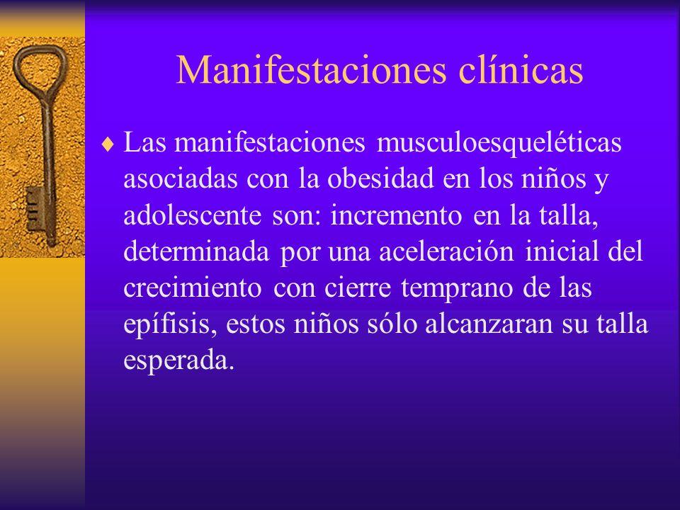 Manifestaciones clínicas El cuadro clínico se inicia generalmente por arriba de los 10 años con claudicación indolora que conforme progresase hace dolorosa y con limitación a la rotación interna del miembro inferior.