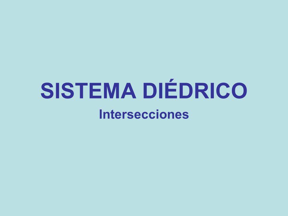 SISTEMA DIÉDRICO Intersecciones