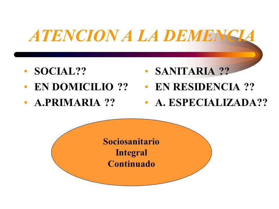 DEMENCIAS Proceso diagnóstico 1- Identificar el D.C o Demencia ( Hª clinica completa, exploración y análisis): Dg.