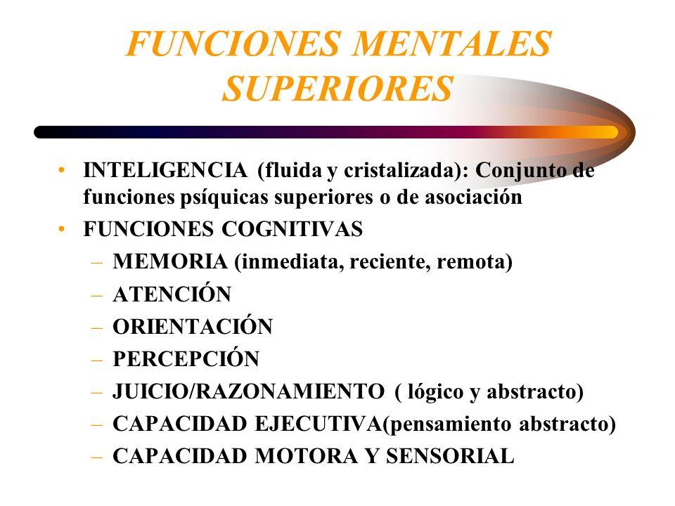 SÍNTOMAS MAS FRECUENTES COGNITIVOS: –alteración de la memoria –sd disejecutivo: f.