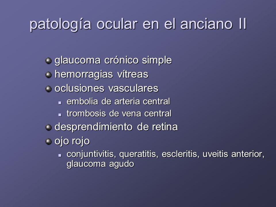 PrevalenciaIncidencia Degeneración macular Degeneración macular Cataratas Cataratas Glaucoma Glaucoma Retinopatía diabética Retinopatía diabética Defectos de refracción Defectos de refracción % edad Ceguera