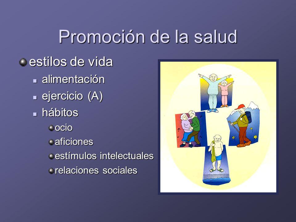 Prevención primaria Educación estilos de vida no saludables estilos de vida no saludables hábitos tóxicos: tabaco (A) hábitos tóxicos: tabaco (A)Vacunas gripe (B) gripe (B) neumococo (B) neumococo (B) Tétanos (A) Tétanos (A)