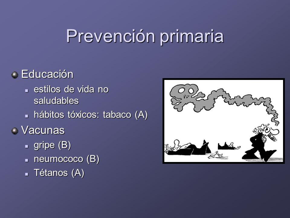 Aspectos preventivos: prevención primaria Factores de riesgo vascular Alteraciones sensoriales