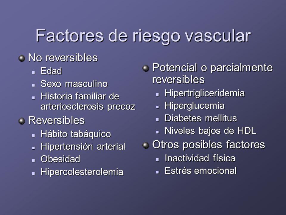 Hipercolesterolemia: Prevención Reducción similar de episodios coronarios en ancianos que en más jóvenes y de mortalidad Primaria* Primaria* Secundaria ** Secundaria ** * WOSCOPS, AFCAPS/TexCAPS ** Scandinavian, CARE, LIPID