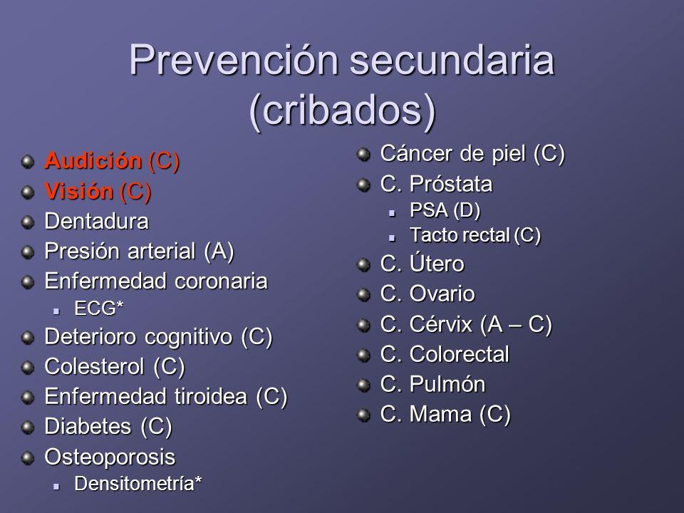 Aspectos preventivos: prevención terciaria es importante prevenir y tratar las lesiones para evitar que produzcan el daño suficiente para interferir en la vida personal y de relación del paciente