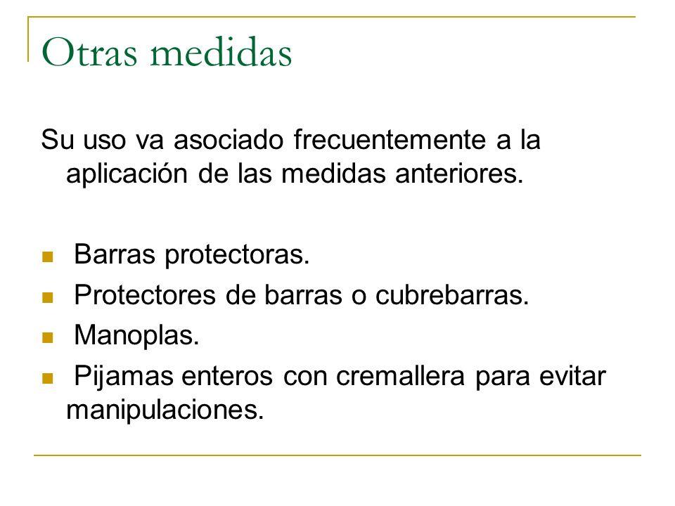 Otras medidas Su uso va asociado frecuentemente a la aplicación de las medidas anteriores. Barras protectoras. Protectores de barras o cubrebarras. Ma