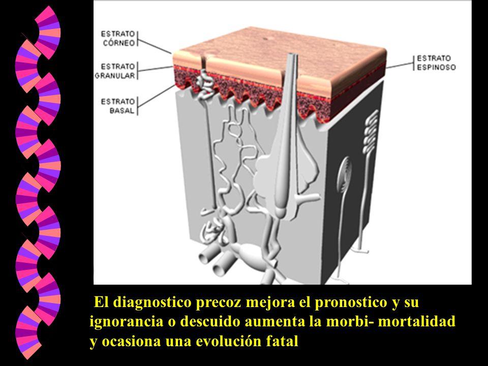 El diagnostico precoz mejora el pronostico y su ignorancia o descuido aumenta la morbi- mortalidad y ocasiona una evolución fatal