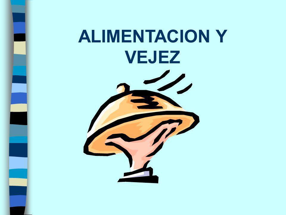ALIMENTACION Y VEJEZ
