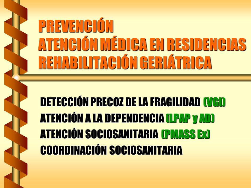 PREVENCIÓN PROGRAMAS PREVENTIVOS GENERALES y ESP.