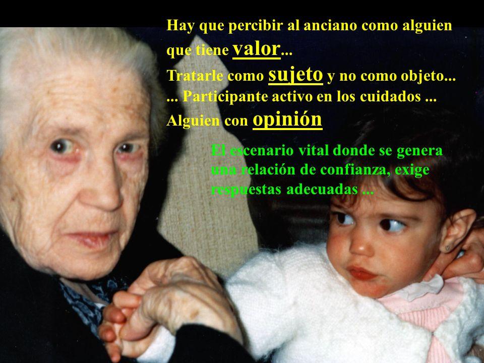 Los ancianos son personas que intentan mantener un sentido en sus vidas en una época muy difícil...