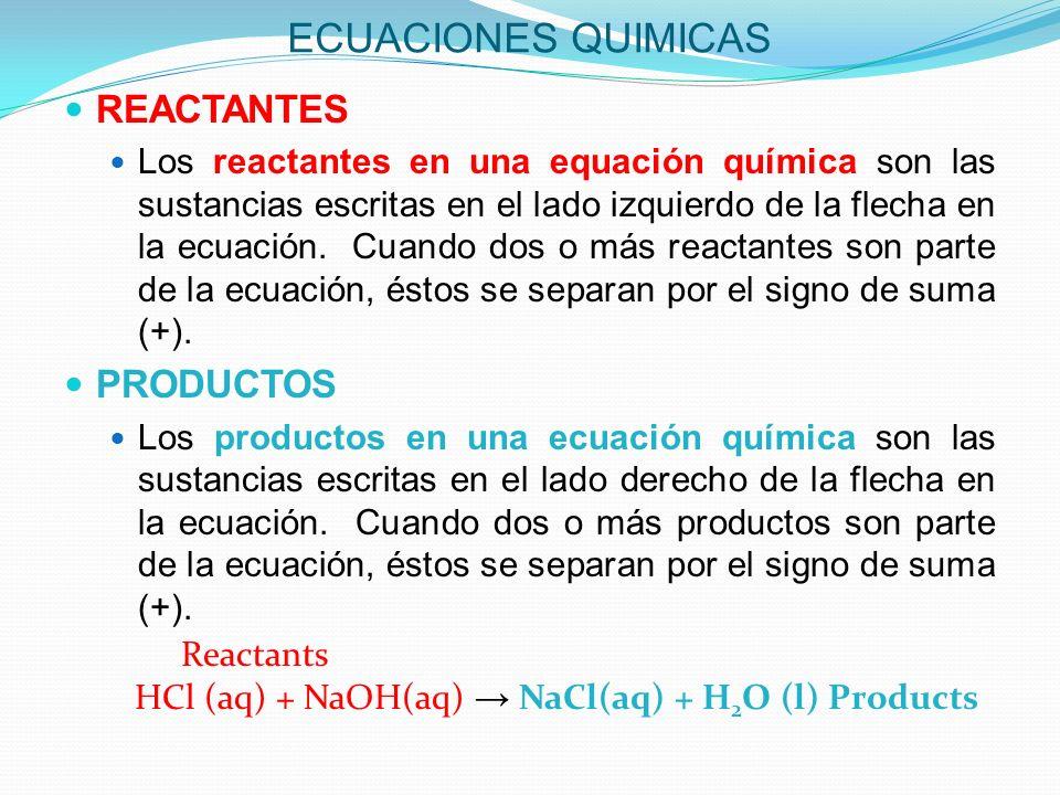 ECUACIONES QUIMICAS BALANCIADAS Una ecuación química balanciada es aquella donde el número de átomos de cada elemento en los reactantes es igual al número de átomos de ese mismo elemento en los productos.