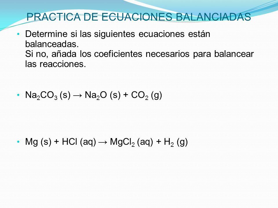 CLASES DE REACCIONES QUIMICAS Las reacciones químicas usualmente se clasifican en categorías de acuerdo a las características de las reacciones.