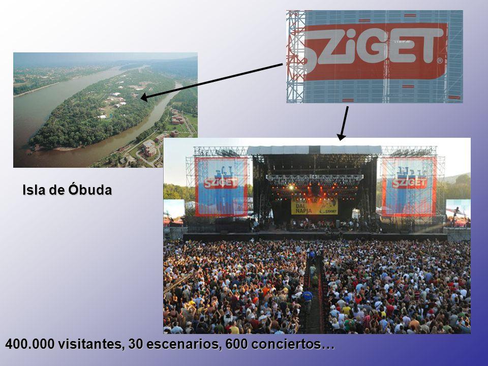 Isla de Óbuda 400.000 visitantes, 30 escenarios, 600 conciertos…