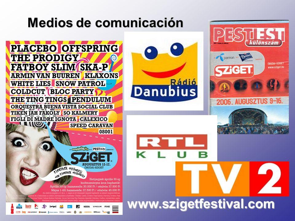 Medios de comunicación www.szigetfestival.com