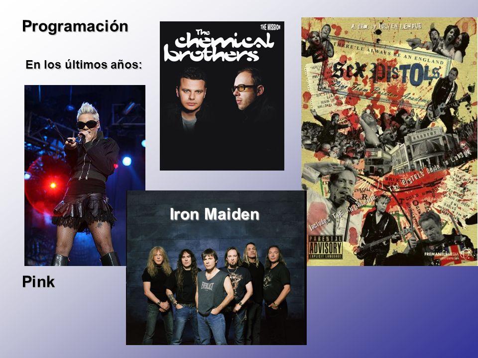Programación En los últimos años: Iron Maiden Pink