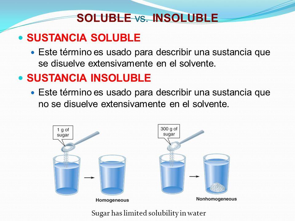 EJEMPLO DE PESO/VOLUMEN Ejemplo: Calcule el %(w/v) de una solución preparada al disolver 8.95 gramos de cloruro de sodio en suficiente agua para obtener una solución de 50.0 mL.