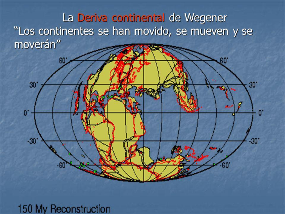 La Deriva continental de Wegener Los continentes se han movido, se mueven y se moverán