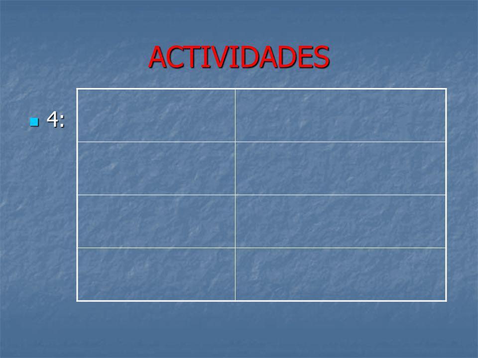 ACTIVIDADES 4: 4: