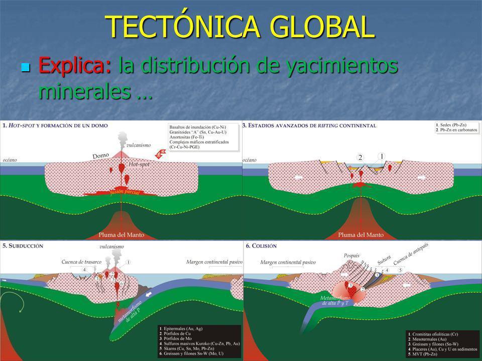 Explica: la distribución de yacimientos minerales …