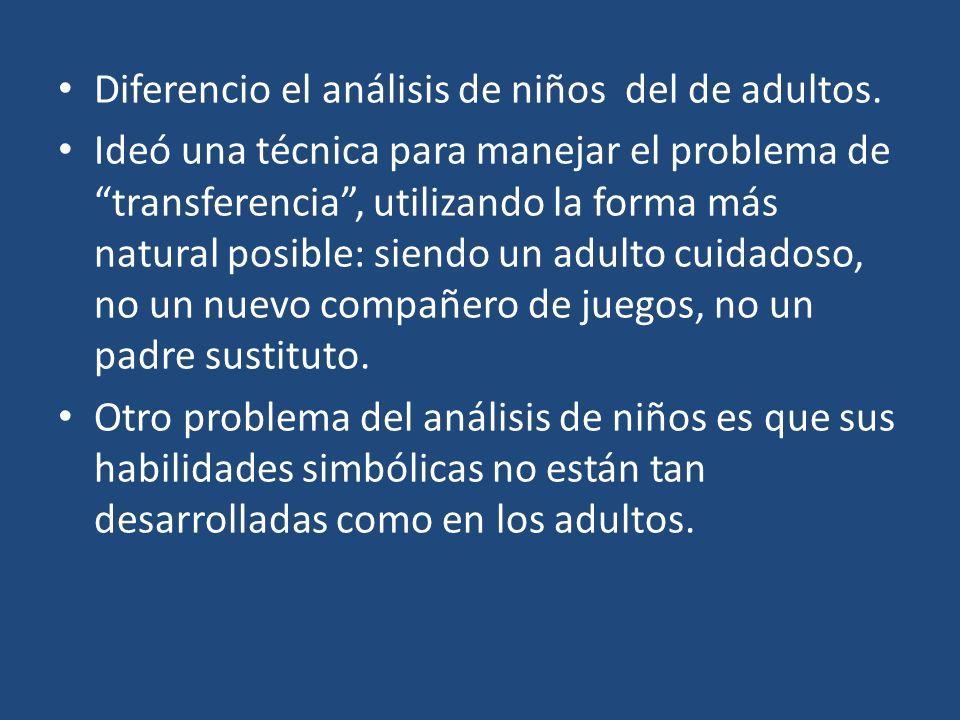 Diferencio el análisis de niños del de adultos.