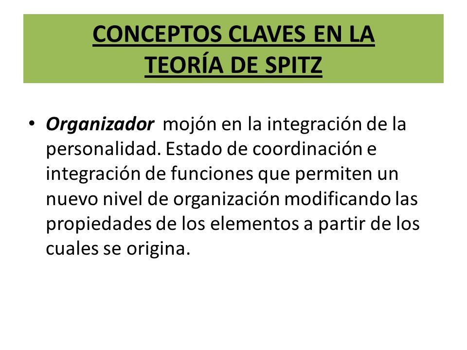 CONCEPTOS CLAVES EN LA TEORÍA DE SPITZ Organizador mojón en la integración de la personalidad.