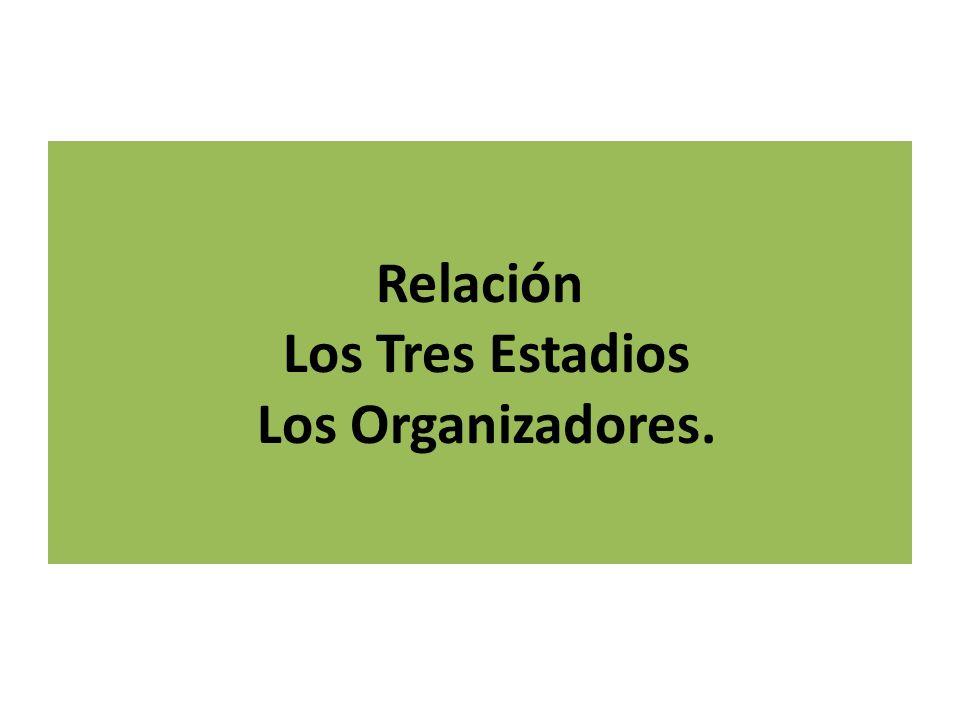 Relación Los Tres Estadios Los Organizadores.