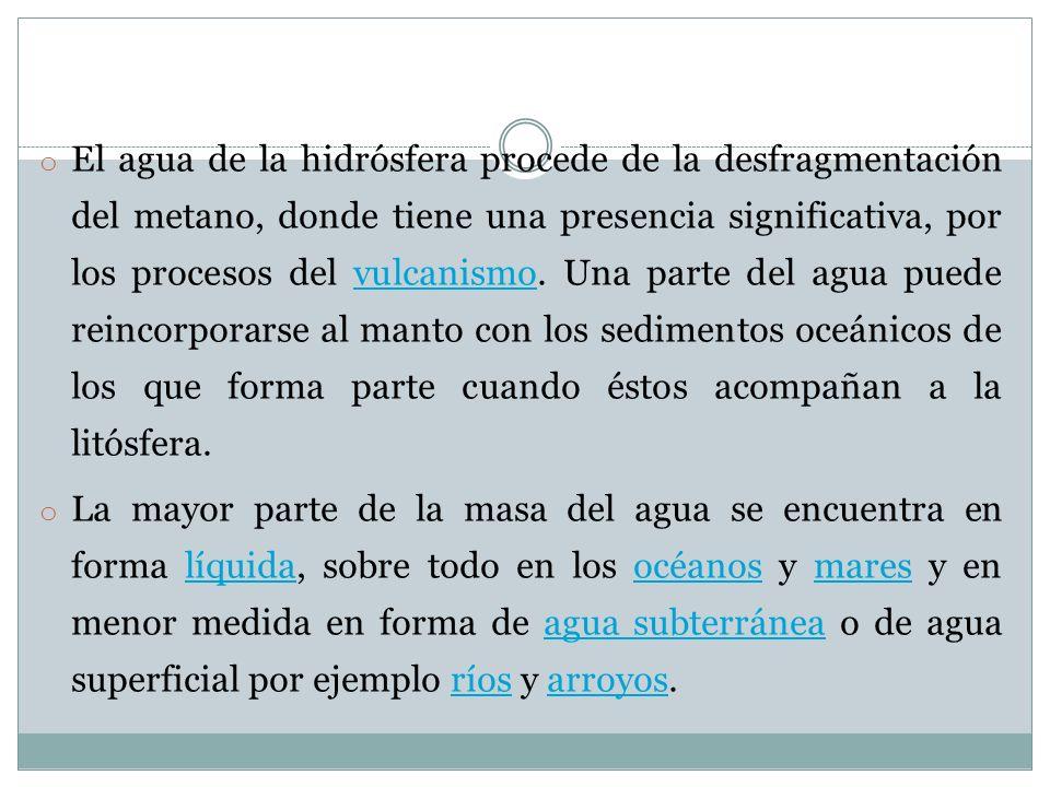 6º circulación subterránea : Se produce a favor de la gravedad, como la escorrentía superficial, de la que se puede considerar una versión.