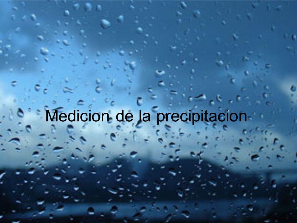 Medicion de la precipitacion