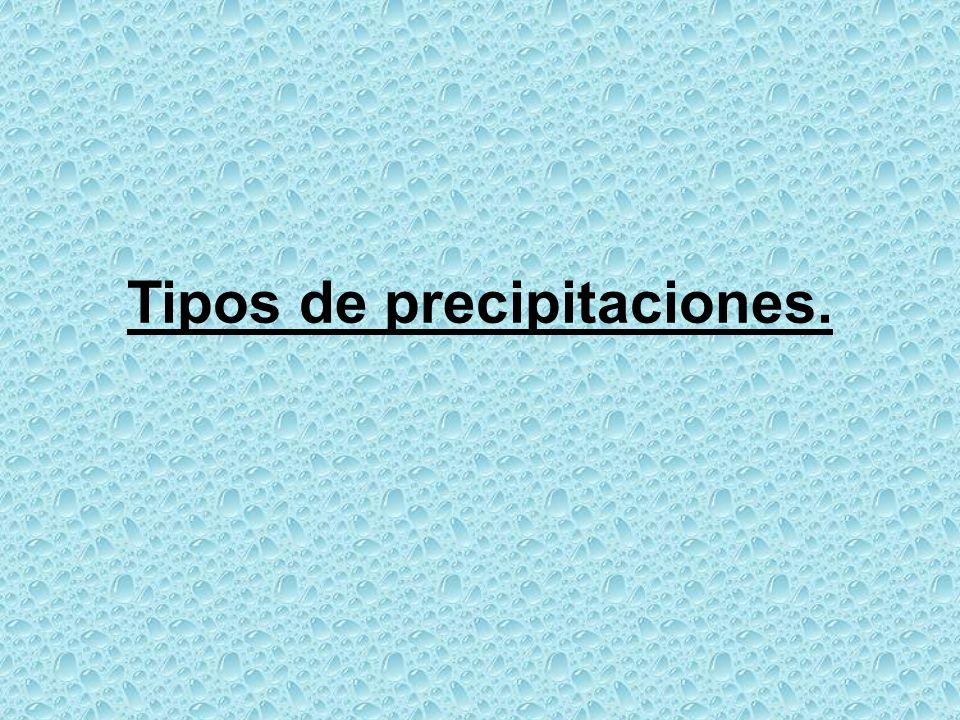 Tipos de precipitaciones.